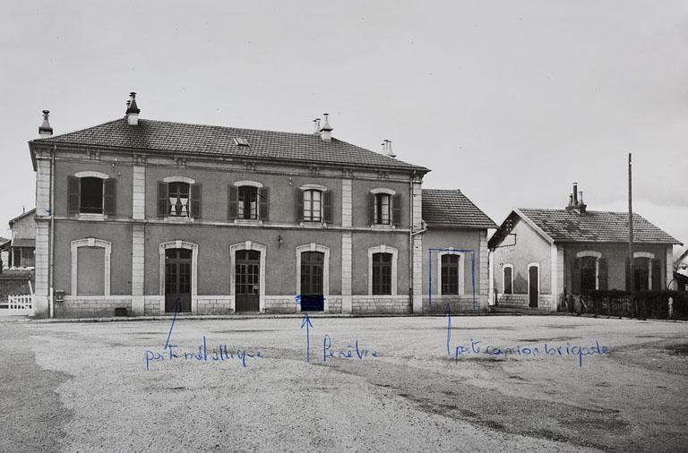 Gare de Saint-Laurent-en-Grandvaux (voie ferrée Andelot - La Cluse)