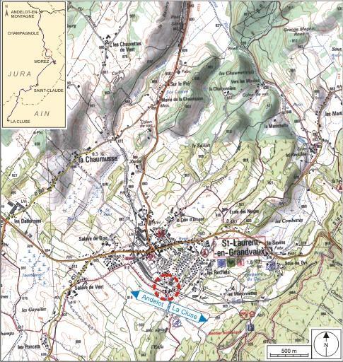 Maison de garde-barrière et passage à niveau n° 28 (voie ferrée Andelot - La Cluse)