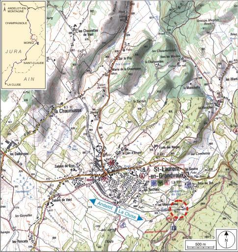 Maison de garde-barrière et passage à niveau n° 31 (voie ferrée Andelot - La Cluse)