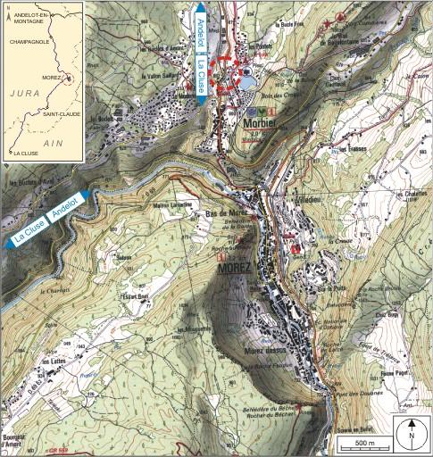 Pont ferroviaire et viaduc des Gaudards (voie ferrée Andelot - La Cluse)