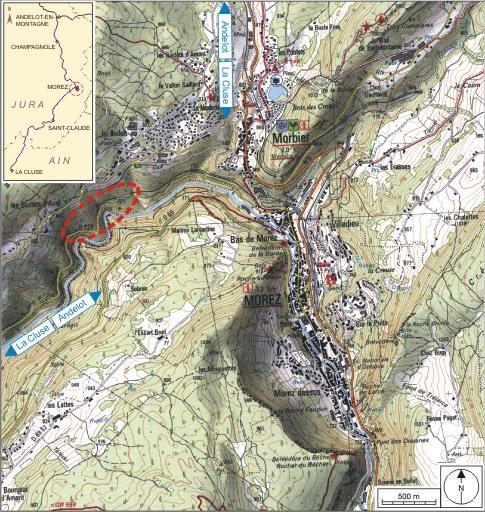 2 tunnels dits souterrains des Bataillards et de Lézair (voie ferrée Andelot - La Cluse)