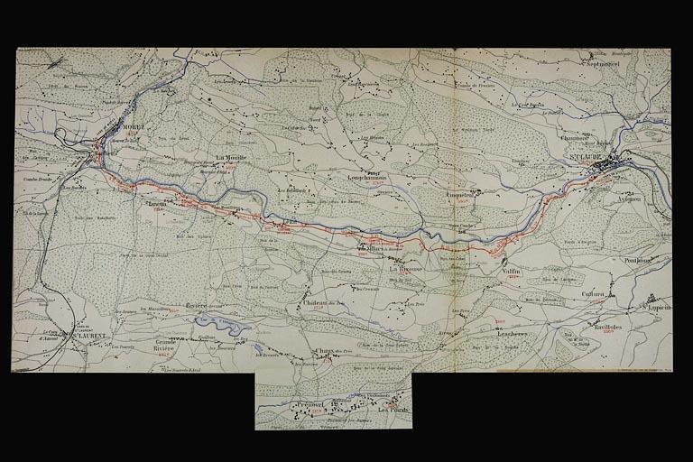 Section Morez - Saint-Claude de la voie ferrée Andelot - La Cluse