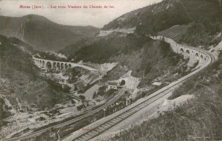 Section Champagnole - Morez de la voie ferrée Andelot - La Cluse