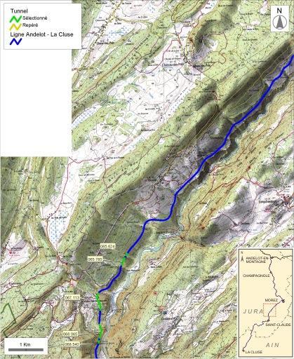 Tunnels de la voie ferrée Andelot - La Cluse