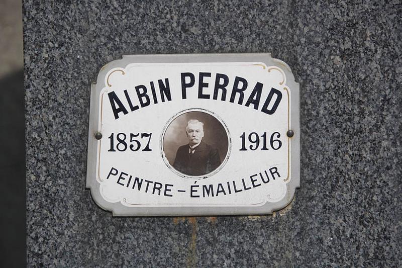 Plaque funéraire d'Albin Perrad