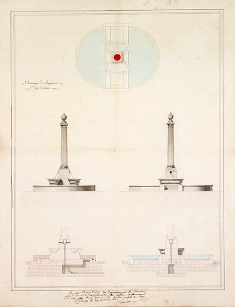 Fontaine, abreuvoir de la mairie