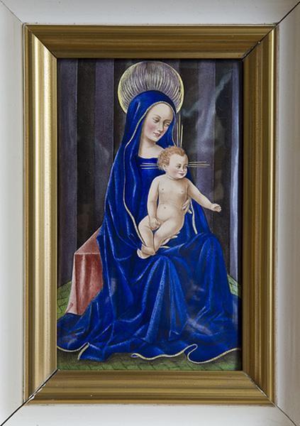 Tableau émaillé : Vierge à l'Enfant