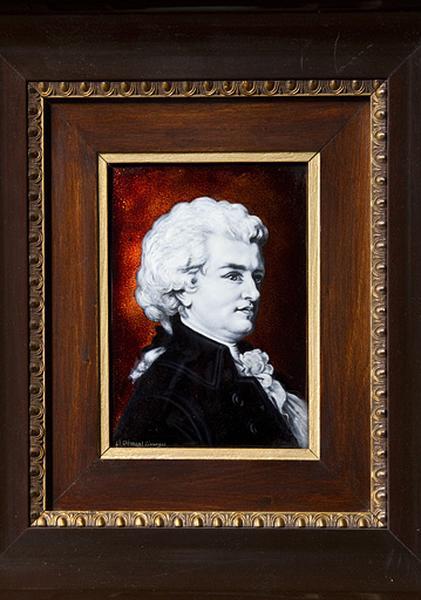 Tableau émaillé : Wolfgang Amadeus Mozart