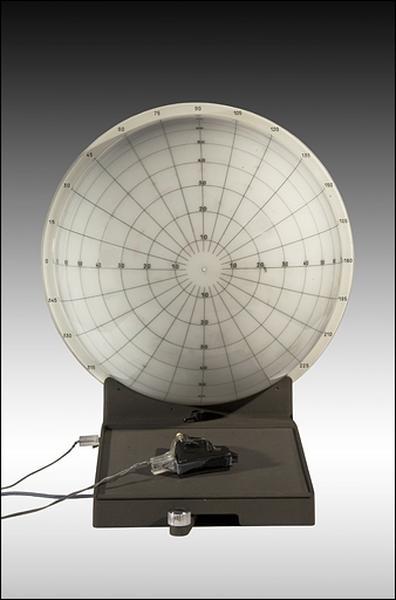instrument d'observation et d'ophtalmologie (périmètre à coupole de Gambs)