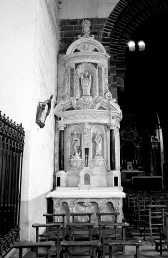 ensemble de 2 retables de saint Louis, de saint Blaise