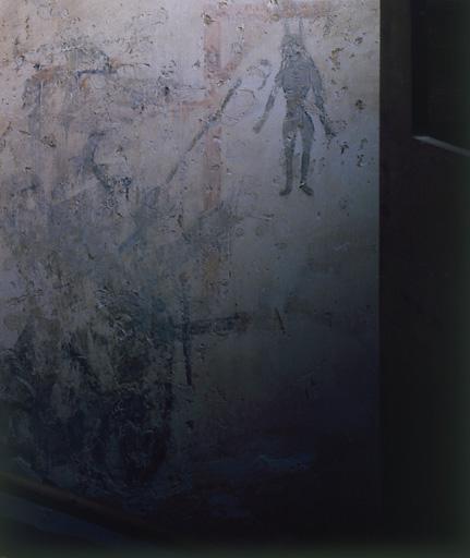 Peinture murale : diable torturant une damnée