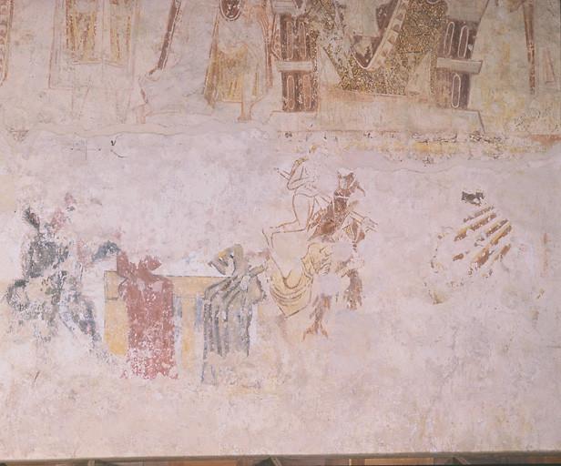 Peinture murale : messe de saint Martin et les bavardes