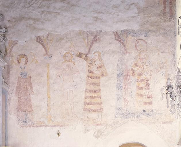 Peinture murale : Baptême du Christ, saint Jean-Baptiste