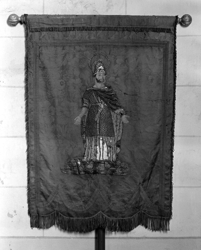 Bannière de procession : Assomption, saint Maurice