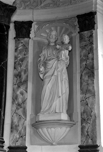 Statue saint Joseph et l'Enfant du retable du maître-autel