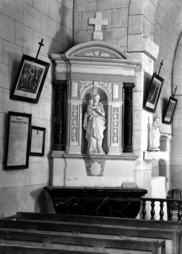 Ensemble des 2 autels-retables de la nef