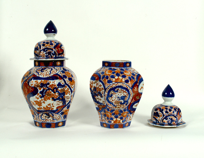 Ensemble de 2 boîtes décoratives : pots à thé