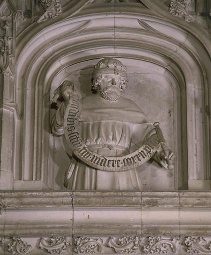 2 bustes (en pendant, bustes à mi-corps) : David, Isaïe