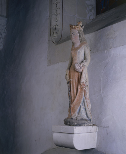 Statue (demi-nature) : sainte Catherine d'Alexandrie