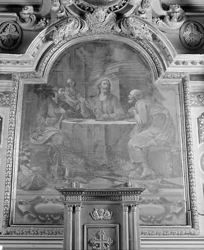 Tableau (tableau d'autel) : Pèlerins d'Emmaüs