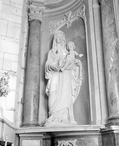 ensemble de 2 statues : Vierge à l'enfant, saint Joseph