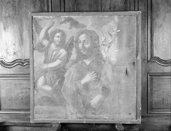 ensemble de 2 tableaux : Songe de saint Jospeh, Vierge à l'Enfant