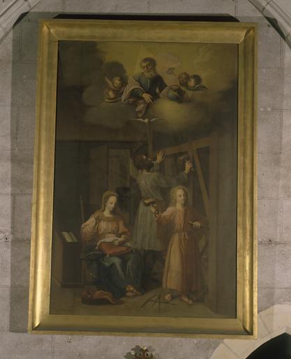 Tableau : Sainte Famille à l'atelier
