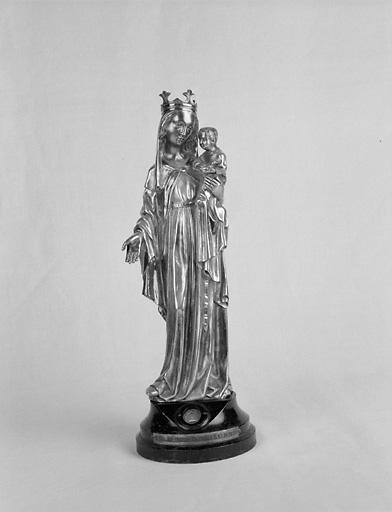 Statuette-reliquaire : Vierge à l'Enfant
