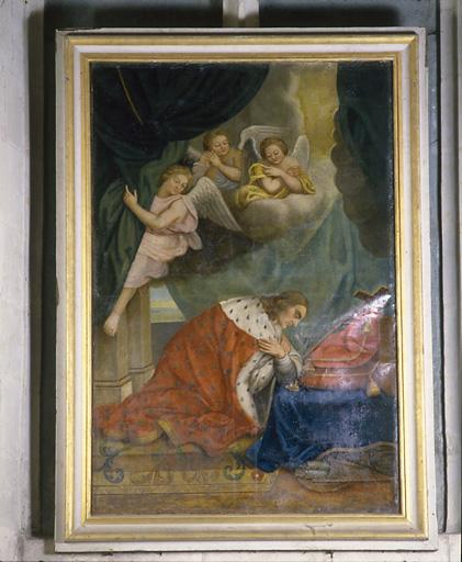 Tableau : saint Louis adorant la croix