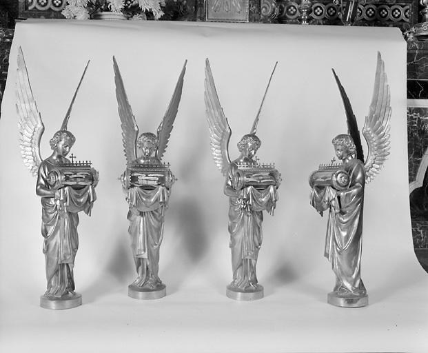 4 statues-reliquaires (série)