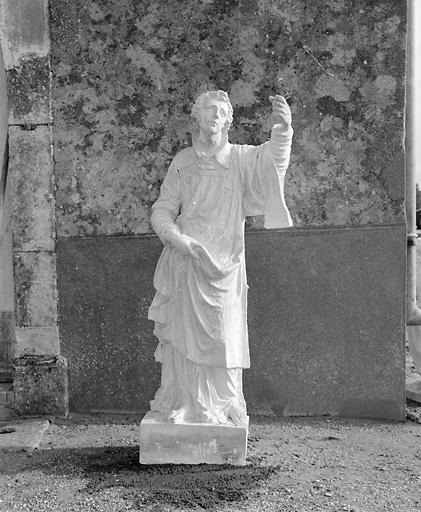 Statue (petite nature) : saint Laurent