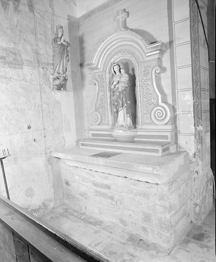 2 autels de sainte Marie et de saint Joseph