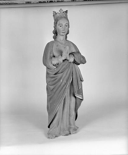Statue (petite nature) : sainte Marguerite de Hongrie