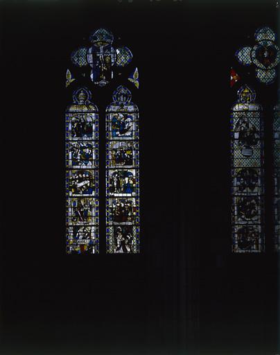 2 verrières : vie de sainte Madeleine