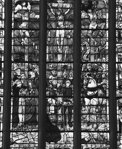 Verrière du transept (bras sud, mur sud)