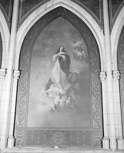 5 tableaux : Martyre de saint Etienne, Immaculée Conception, Nativité, Jésus servi par les anges, Déploration du Christ