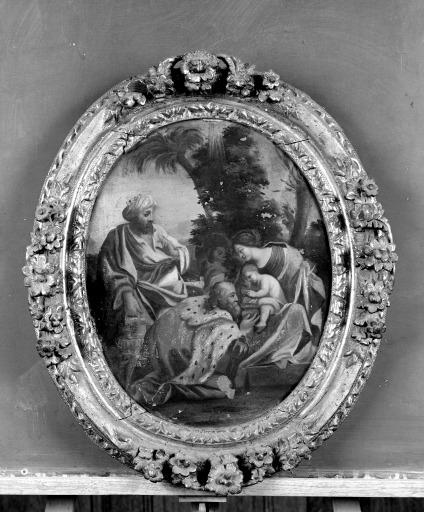 Ensemble de 2 tableaux : Nativité, Adoration des Mages