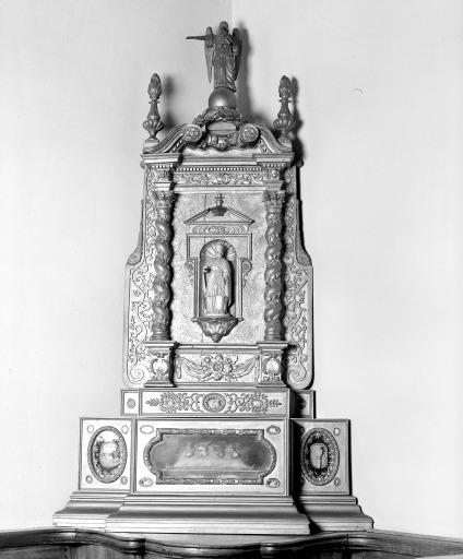 Ensemble de 2 reliquaire retable : saint Clément, saint Renault