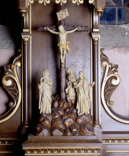 Groupe sculpté : Crucifixion