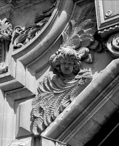 Décor d'élévation extérieure : le portail royal