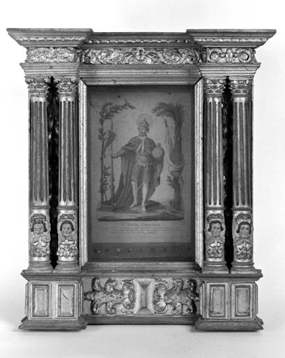 Ensemble de 2 reliquaires retables : saint Henri, saint Louis