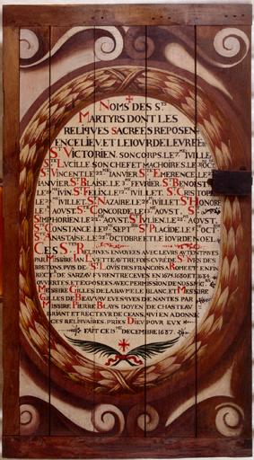 Armoire à reliquaires de saint Victorien