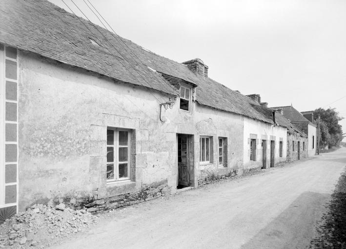 Les maisons et les fermes sur la commune de Roudouallec