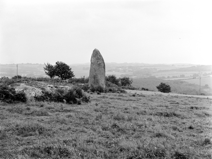 Menhir, Kergornec (Saint-Gilles-Pligeaux) ; Menhir, Kergornec (Saint-Gilles-Pligeaux)
