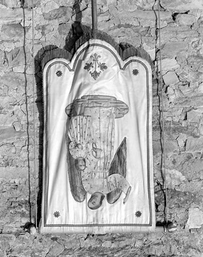 bannière de procession : ange gardien, Vierge
