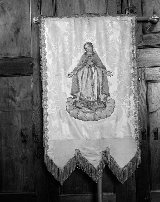 Bannière de procession de paroisse : Immaculée Conception, Ange gardien