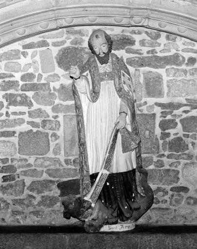 Statue (petite nature): saint Armel
