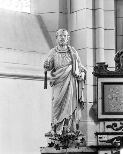 Statue (2, petite nature, figure d'ornement, en pendant): saint Pierre, saint Antoine