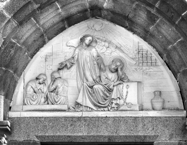 Bas-relief: saint Pierre délivré de sa prison par l'Ange