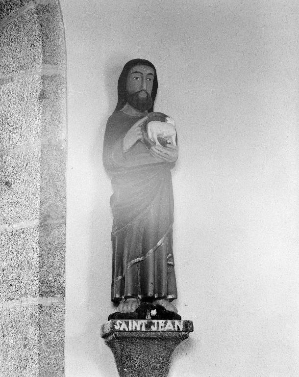 Statue : Saint-Jean-Baptiste, ancien prieuré de Lochrist an Izelvet (Plounévez-Lochrist)